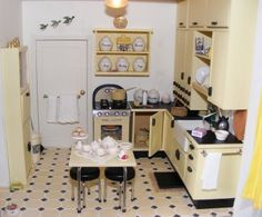 adorable little retro 50's kitchen