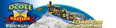 Ocoee River whitewater rafting in Duckville, Tennessee (left middle seat)