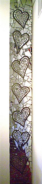 CounterPulse Heart Mosaic by Rachel Rodi by Rachel Rodi Mosaics, via Flickr