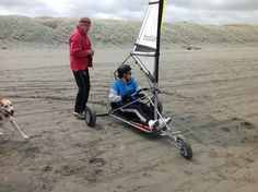 Blokart on Foxton Beach, North Island, NZ Char A Voile, Compound Bows, Small Boats, Gold Coins, Canoe, Fun Things, Kayaking, Baby Strollers, Sailing