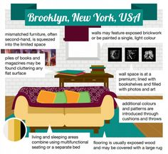 ¡13 estilos de diseño de interiores del mundo! ¿Con cual te identificas? TapiceriaBas3 Mismatched Furniture, Pile Of Books, Brickwork, Wall Spaces, Clutter, Light Colors, Bookshelves, Decoration, Tips