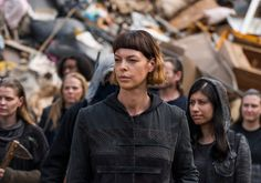 "The Walking Dead Season 7 Episode 10 'New Best Friends' - Jadis (Pollyanna McIntosh) and the Scavengers. The new group, the Scavengers, had Rick Grimes smiling after he saw them carrying weapons and the numbers of people in their group. Like Daryl Dixon told Rick (Ep. 9) was he needed the ""numbers"" to fight the Saviors.  - Photo by Gene Page/ AMC"