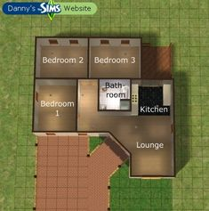 house 58 Ideas For House Plans Bungalow Floors design layout Sims 2 House, Sims 4 House Plans, Sims 4 House Design, House Floor Plans, Sims 3 Houses Ideas, Sims 4 Houses Layout, House Layouts, House Ideas, Sims Ideas