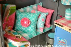Our Generation doll camper makeover glamping