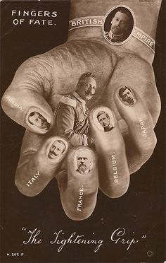 """British WWI poster """"The Fingers of Fate"""", 1916"""