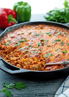 Dinner Casserole Recipes, Beef Recipes For Dinner, Entree Recipes, Cooking Recipes, Crockpot Enchilada Casserole, Beef Casserole, Grilled Bell Peppers, Stuffed Poblano Peppers, Pork Dishes