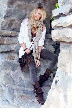 fashion. sweater LF stores. bag Massimo Dutti. jeans GAP 1969. boots Steve Madden. scarf Nordstroms.