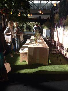 stringlights and forestry table #weltevree #tableamanger