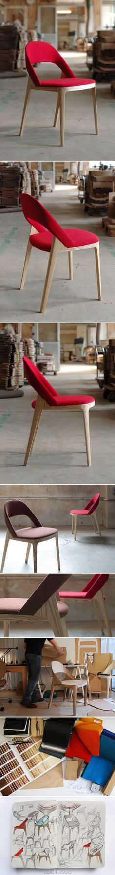 Clamp Chair | http://www.andreaskowalewski.com/ #pin_it #design @mundodascasas See more here: www.mundodascasas.com.br