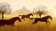 Motion Graphics | 2D animation, wild mustangs Brand Marketing Strategy, Wild Mustangs, Creative Video, Media Design, Motion Graphics, 2d, Moose Art, Animation, Animals