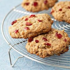 Substitute these low-fat, whole grain cookies for a sugary pastry at breakfast and you'll feel more energized. They make a great snack, too.