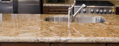 Your kitchen countertops should not only reflect your style but also accommodate your meal preparation needs. Learn the pros and cons of popular kitchen countertop materials. Marble Countertops Price, Granite Countertops Colors, Kitchen Cabinets And Countertops, Kitchen Countertop Materials, Granite Kitchen, Kitchen Flooring, Kitchen Backsplash, Luxury Kitchens, Cooking