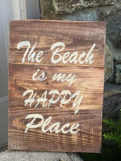 A personal favorite from my Etsy shop https://www.etsy.com/listing/384333486/the-beach-is-my-happy-place