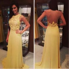#vestido #festa #amarelo