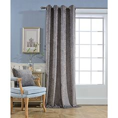"""Solid Faux Silk Window Curtain 38"""" Wide Panel With Bronze Grommets Style; In Teal New Fashionable"""