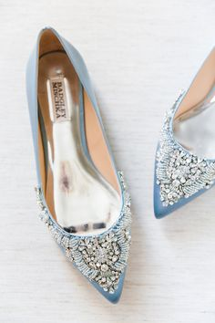 Feel Like Cinderella in Your Sparkly Wedding Shoes Unique Wedding Shoes, Wedge Wedding Shoes, Bridal Flats, Designer Wedding Shoes, Wedding Accessories, Blue Bridal Shoes, Sandals Wedding, Hair Accessories, Charleston Sc