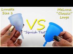"Lunette Size 1 vs MeLuna Lg ""Squish Test"" - Menstrual Cups"