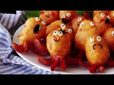 How To Make Mini Octopus Corn Dogs at Home - YouTube