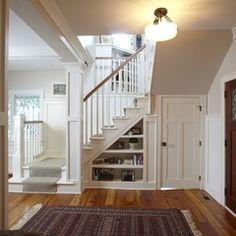 craftsman staircase by Stonebreaker Builders & Remodelers