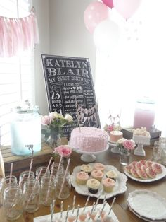 {Birthday Party} Pink polka dot themed first birthday party. Detailed pics on the blog.