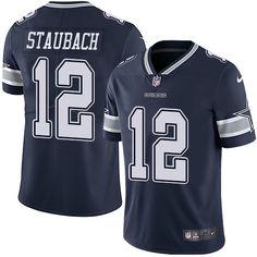 1434109ee Nike Cowboys  12 Roger Staubach Navy Blue Team Color Men s Stitched NFL  Vapor Untouchable Limited