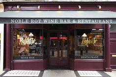 Newly opened Noble Rot winebar & restaurant in Lamb's Conduit St! We've been so excited about this!