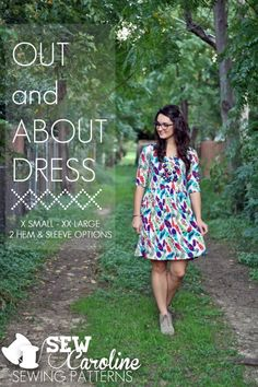 The Out and About Dress by Sew Caroline