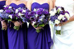 Loved these purple flower arrangements at my wedding...pinterest worthy
