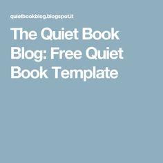 The Quiet Book Blog: Free Quiet Book Template