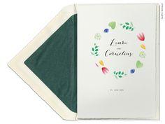 Aquarell Einladungskarten gedruckt auf Büttenpapier von Carte Royale Invitation Text, Drawing Flowers, Floral Watercolor, Invites Wedding, Floral Wreath, Card Wedding, Amor