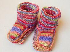 meias de lã em tricô