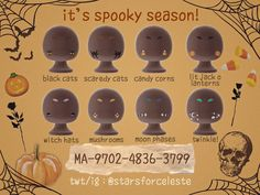 Animal Crossing Town Tune, Animal Crossing Wild World, Animal Crossing Memes, Animal Crossing Qr Codes Clothes, Animal Crossing Pocket Camp, Halloween Face Paint Designs, Halloween Design, Halloween Games, Cute Halloween