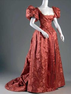 My Pompadour Isn't Listening., Evening dress, ca. 1890s. Museum at FIT Source