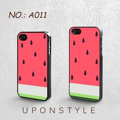 iPhone 4/4S Case, iPhone 5 Case, Watermelon, Fruit, Summer, Plastic Phone Cases, Case for iphone, Case No-011 on Etsy, $8.99