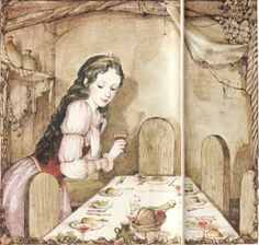 "Itsuko Azuma illustration for ""Snow White""."
