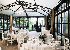 Sublime orangerie at Chateau de la Garde. Ideal for an elegant wedding, where the plan B (anti-rain) is definitely a Plan A. If you're inspired by a wedding in a #ProvenceWeddingVenues, submit your dream #destinationwedding in #Provence to Muriel at hello@muriel-saldalamacchia.com