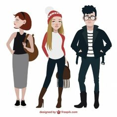 Pack de adolescentes de moda