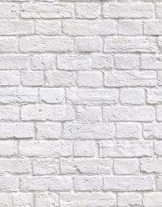 Kemra Wallpapers Soft White Bricks Wallpaper