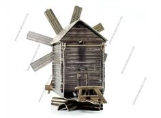 Kizhi Windmill cardboard model H0 scale