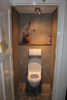 Small room, forgotten space, ignored place, and wasted a part of home but important room that is bathroom. Then in there are more important thing and useful, that is a closet toilet. In urban era toilet has been made over… Continue Reading → Toilet Closet, Bathroom Closet, Bathroom Toilets, Bathroom Interior, Design Bathroom, Bathroom Ideas, Small Toilet Room, New Toilet, Small Bathroom
