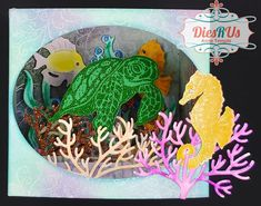 Dies R Us: Underwater Scene Shadow Box