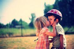 Cutest kiss ever.