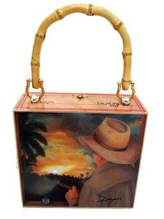 ON SALE . Handbag.  Exclusive Cigar Box Purse w/ by thebestart1122