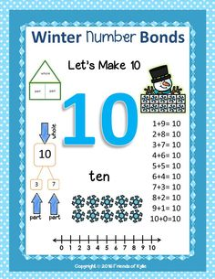 Number bond mat.  Great to help your students visualize the concept of number bonds.  Great to use as a write and wipe when using math task cards too! Kindergarten-1st.