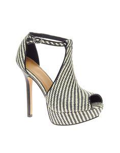 Platform weave sandals
