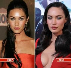 Funny pictures about Megan Fox: what happened to you? Oh, and cool pics about Megan Fox: what happened to you? Also, Megan Fox: what happened to you? Megan Fox Plastic Surgery, Plastic Surgery Before After, Plastic Surgery Gone Wrong, Celebrity Plastic Surgery, Tan Before And After, Evolution, Celebrities Before And After, Fake Tan, Up Dos