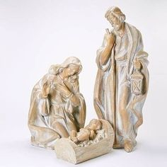 Wood Carved Look Holy Family Set from Joseph's Studio Christmas Nativity Scene, Christmas Night, Christmas Villages, Family Set, Holy Family, Nativity Stable, Nativity Sets, Jesus In A Manger, Outdoor Nativity