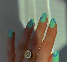 Minimalist Nails, Nail Swag, Aycrlic Nails, Hair And Nails, Coffin Nails, Uñas Fashion, Funky Nails, Funky Nail Art, Edgy Nails