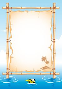 Free vector beach theme bulletin board design in encapsulated postscript . Page Borders, Borders And Frames, Bulletin Board Design, Water Images, Paper Board, Bulletins, Journal Paper, Album Photo, Writing Paper