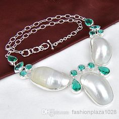 925 Silver Natural Shell White Stone Tennis, Graduated | Buy Wholesale On Line Direct from China